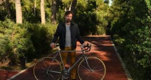 Ο Μαραβέγιας χρησιμοποίησε το ποδήλατο της σκλήρυνσης.