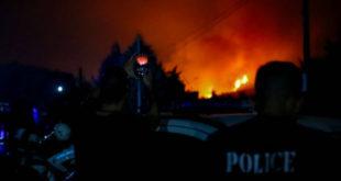Προσαγωγή υπόπτου για την πυρκαγιά στη βόρεια Εύβοια