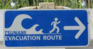 Πινακίδες προειδοποιούν τον κόσμο, για τσουνάμι στην Κω.