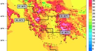 «Καμίνι» η χώρα τα επόμενα 24ωρα – Στους 42 βαθμούς θα… σκαρφαλώσει ο υδράργυρος (χάρτες)