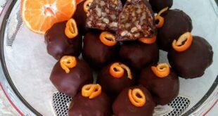 Σοκολατάκια με καρύδια και μανταρίνια!Ένα γλυκό σκέτη απόλαυση!