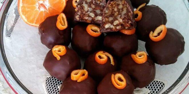 Σοκολατάκια με καρύδια και μανταρίνια! Ένα γλυκό σκέτη απόλαυση!