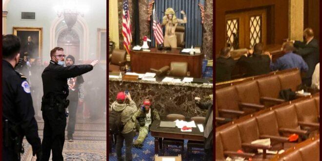 ΗΠΑ: «Εμφύλιος» με όπλα, δακρυγόνα και τραυματίες στην Γερουσία – Πρωτοφανείς εικόνες