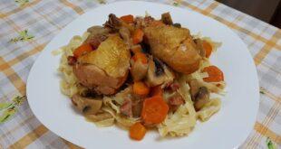 Κόκορας κρασάτος Coq au vin (κοκ ο βεν): Δύο συνταγές σε μία![Βίντεο]