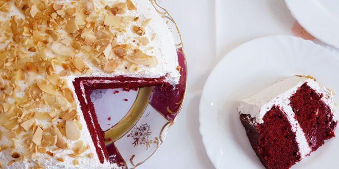 Red velvet με κρέμα τυριού: Ζουμερό και αφράτο![Βίντεο]